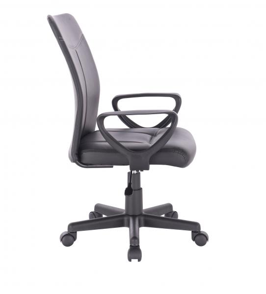 Scaun de birou ergonomic BARMENDA, PU, Negru 2