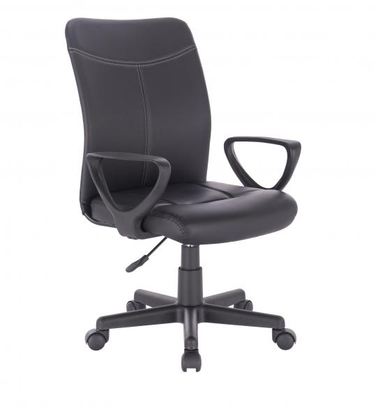 Scaun de birou ergonomic BARMENDA, PU, Negru 0