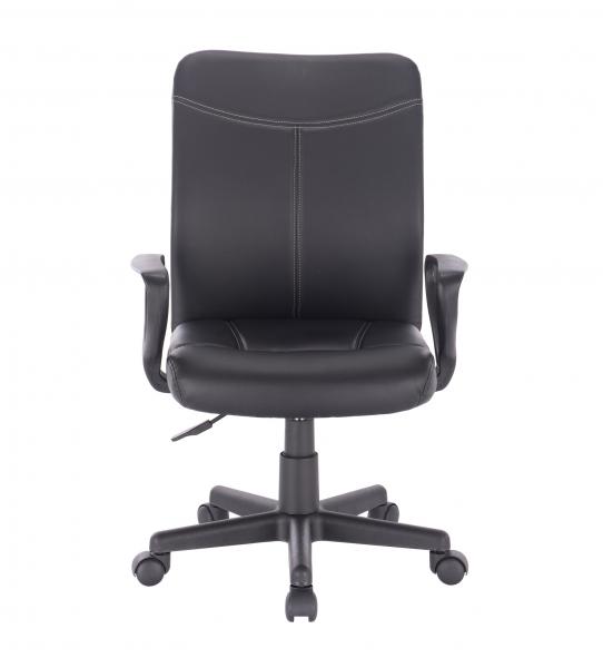 Scaun de birou ergonomic BARMENDA, PU, Negru 1