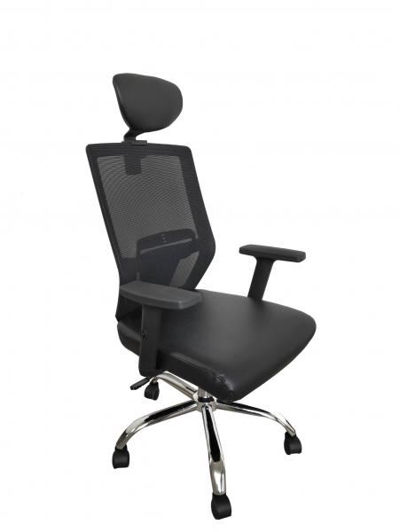 Scaun de birou ergonomic BONANZA, PU+Mesh, cu suport lombar si tetiera 1