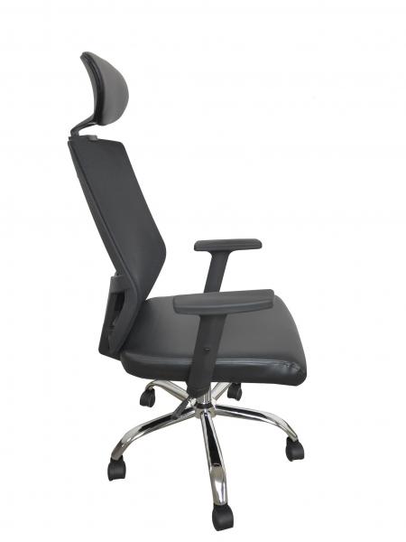 Scaun de birou ergonomic BONANZA, PU+Mesh, cu suport lombar si tetiera 2