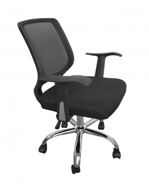 Scaun de birou ergonomic DIEGO, Mesh/Textil, Negru [1]