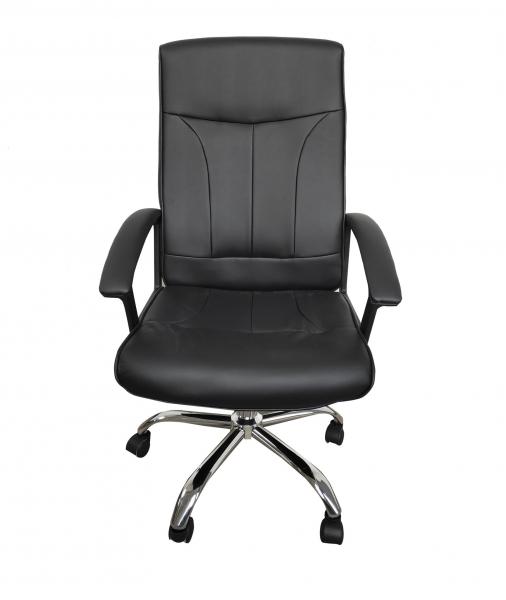 Scaun de birou ergonomic VITO, PU, Negru [0]