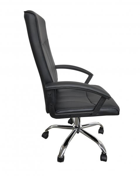 Scaun de birou ergonomic VITO, PU, Negru 1