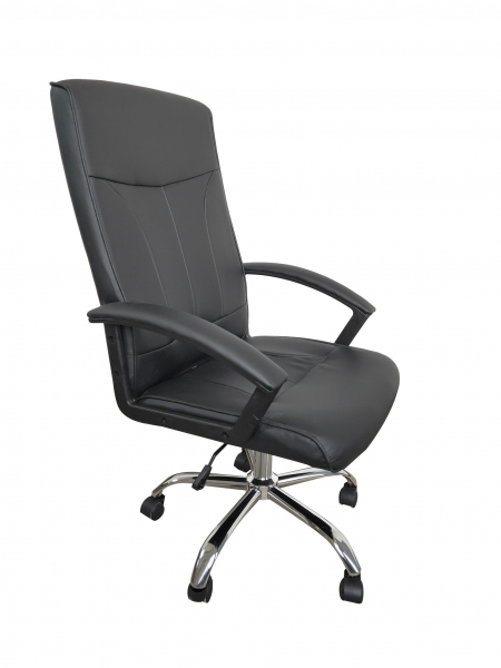 Scaun de birou ergonomic VITO, PU, Negru 2