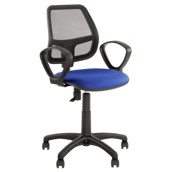Scaun de birou MEGA, Albastru stofa cagliari 0
