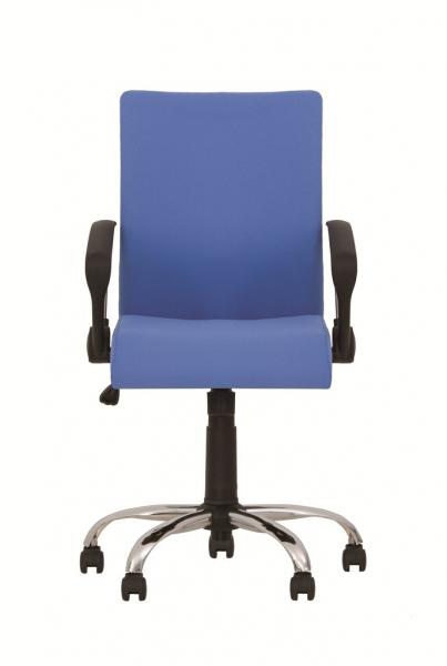 Scaun de birou NEO GTP CHROME, Albastru deschis stofa fiji [1]