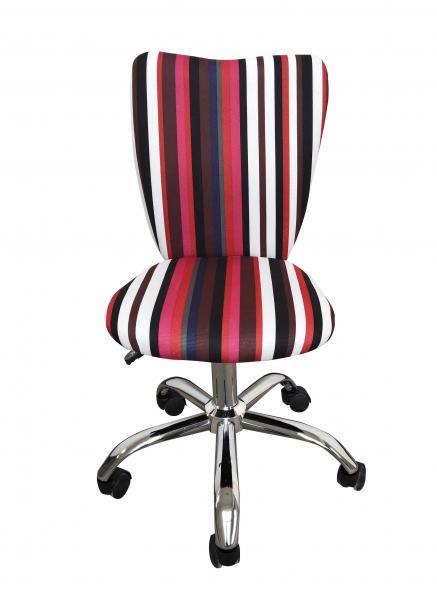 Scaun de birou pentru copii HELENA, Stofa multicolora cu model dungat 1