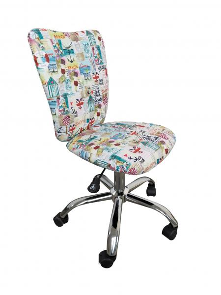 Scaun de birou pentru copii SHAPE, Stofa cu motive marine 0