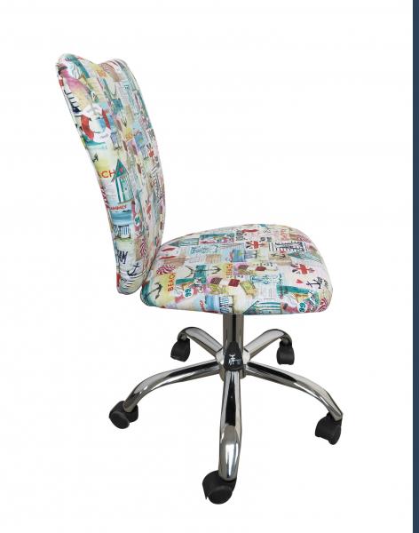 Scaun de birou pentru copii SHAPE, Stofa cu motive marine 1