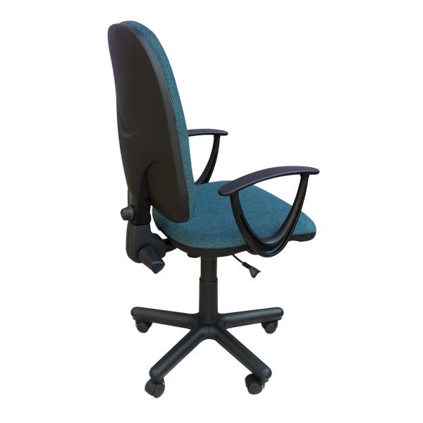 Scaun de birou PRIVILEGE II GTP, Albastru canar-negru stofa cagliari 2