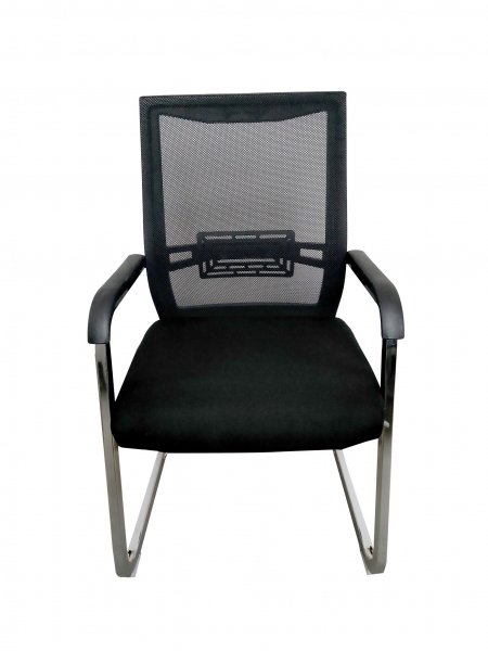 Scaun de vizitator ergonomic TARGA CF, Mesh/Textil, Negru [0]