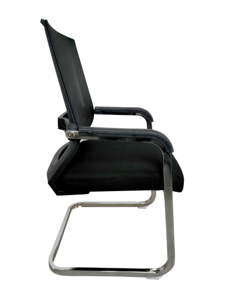 Scaun de vizitator ergonomic TARGA CF, Mesh/Textil, Negru [2]