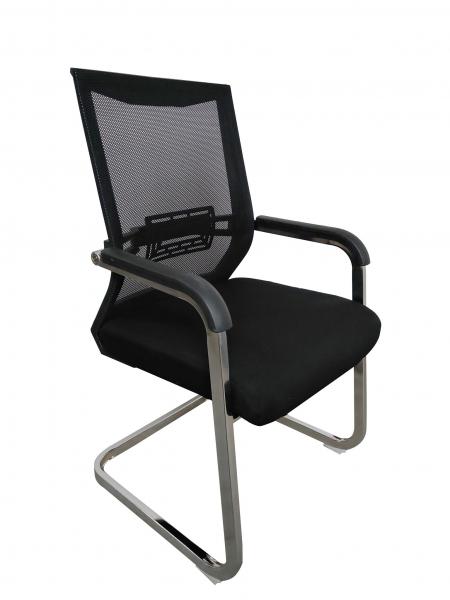 Scaun de vizitator ergonomic TARGA CF, Mesh/Textil, Negru [1]
