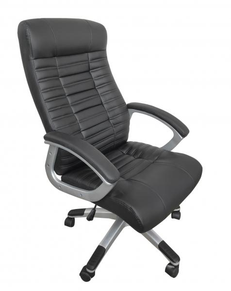 Scaun directorial ergonomic RISTO, PU, Negru 1