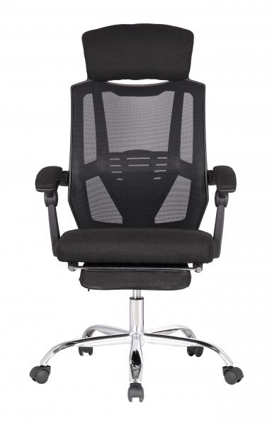 Scaun directorial ergonomic ZEN, Negru, Mesh/Textil cu extensie picioare [1]