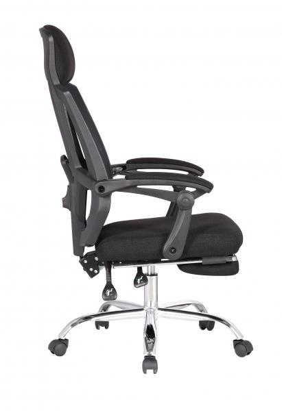 Scaun directorial ergonomic ZEN, Negru, Mesh/Textil cu extensie picioare [2]