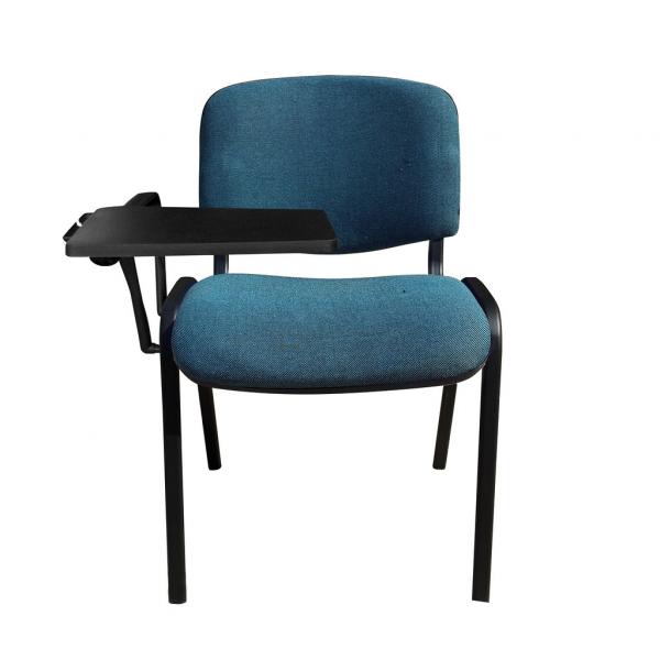 Scaun vizitator GOA BLACK cu masuta, Albastru canar-negru stofa cagliari [0]