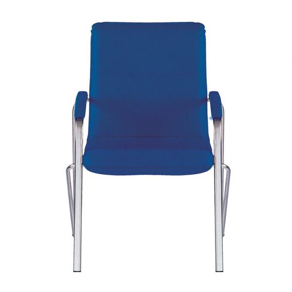 Scaun vizitator MULLER Soft, Albastru stofa zesta 1