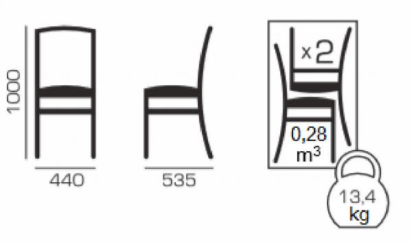 Set 2 scaune Amalfi, Lemn, Wenge/Savannah lilac 5