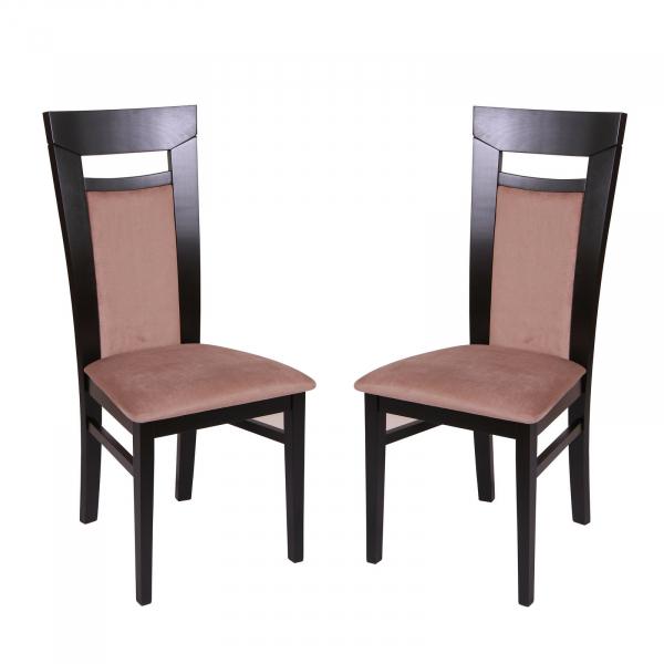 Set 2 scaune Amalfi, Lemn, Wenge/Aya nougat [0]