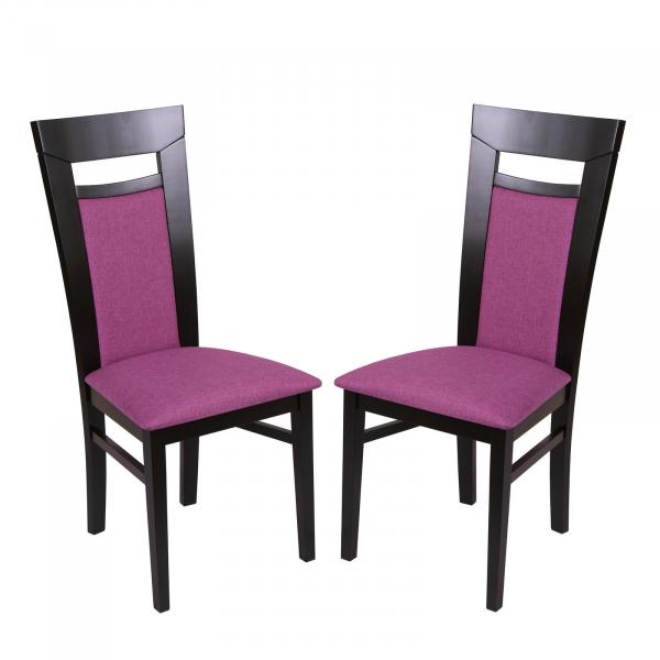 Set 2 scaune Amalfi, Lemn, Wenge/Savannah lilac 0