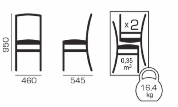 Set 2 scaune Braga, Lemn, Nut/Bum 12 [4]