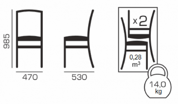 Set 2 scaune Fiona, Lemn, Beige/Regent plain 03 5