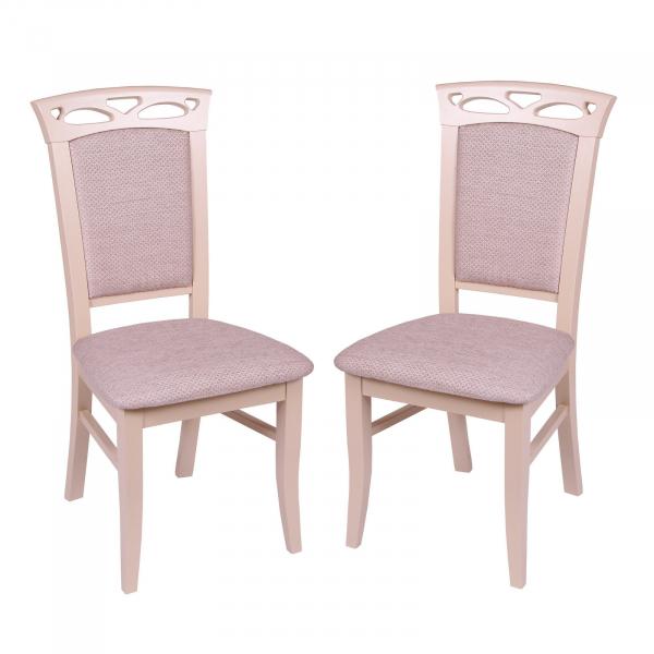 Set 2 scaune Fiona, Lemn, Beige/Regent plain 03 0