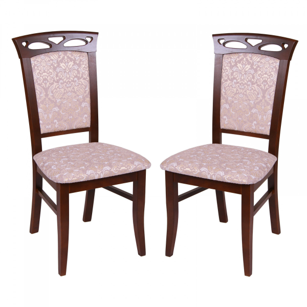 Set 2 scaune Fiona, Lemn, Nut/Regent 03 [0]