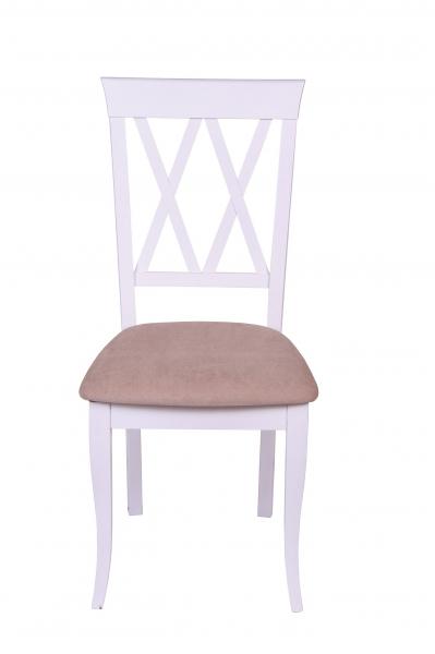 Set 2 scaune Milano, Lemn, White/Misty Beige [2]