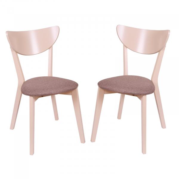 Set 2 scaune NEO, Lemn, Beige/Veles 6 0