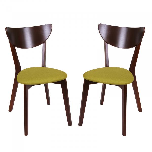 Set 2 scaune NEO, Lemn, Nut/Savannah olive [0]