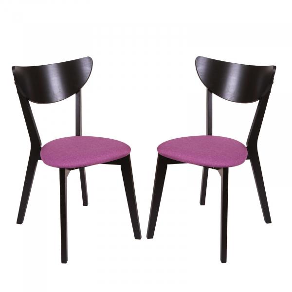 Set 2 scaune NEO, Lemn, Wenge/Savannah lilac 0