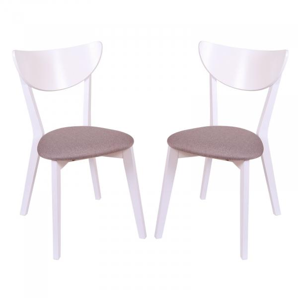 Set 2 scaune NEO, Lemn, White Bonus New Cappucino conceptmobili 2021