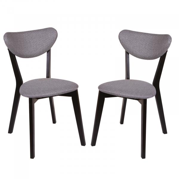 Set 2 scaune Neo M, Lemn, Wenge/Brighton Gray [0]