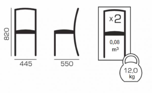 Set 2 scaune Neo T, Lemn, Wenge 4