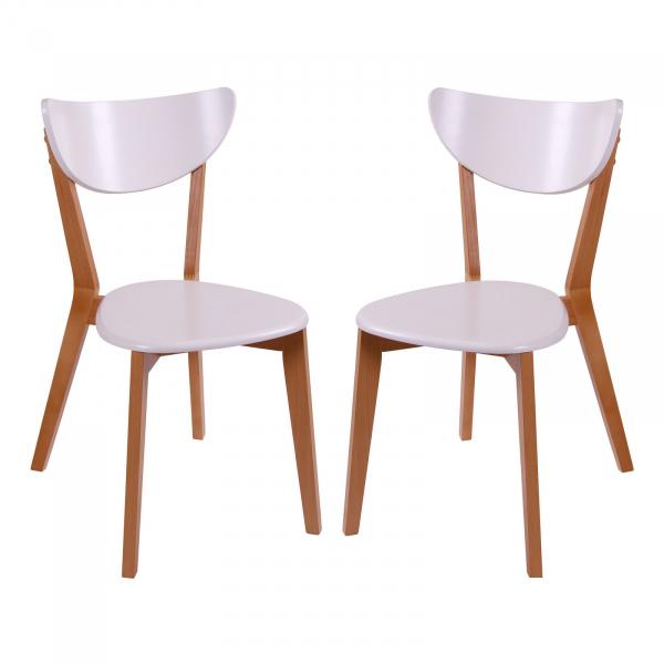 Set 2 scaune Neo T, Lemn, Beech White conceptmobili 2021