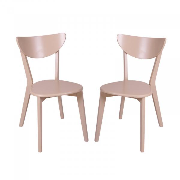 Set 2 scaune Neo T, Lemn, Beige [0]
