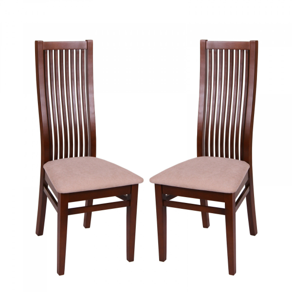 Set 2 scaune Puerto, Lemn, Nut/Misty beige [0]