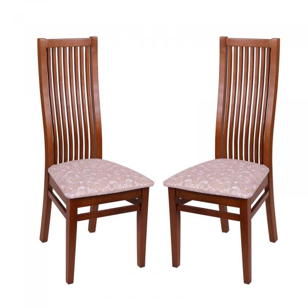 Set 2 scaune Puerto, Lemn, Walnut/Regent 03 [0]