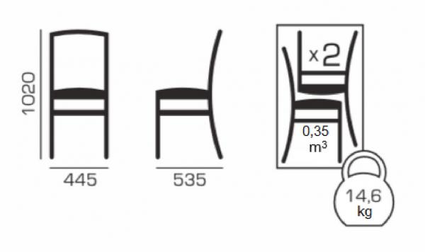 Set 2 scaune Puerto, Lemn, Nut/Misty beige [5]