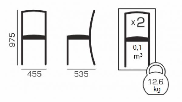 Set 2 scaune ROMA, Lemn, Wenge/Aya nougat 5