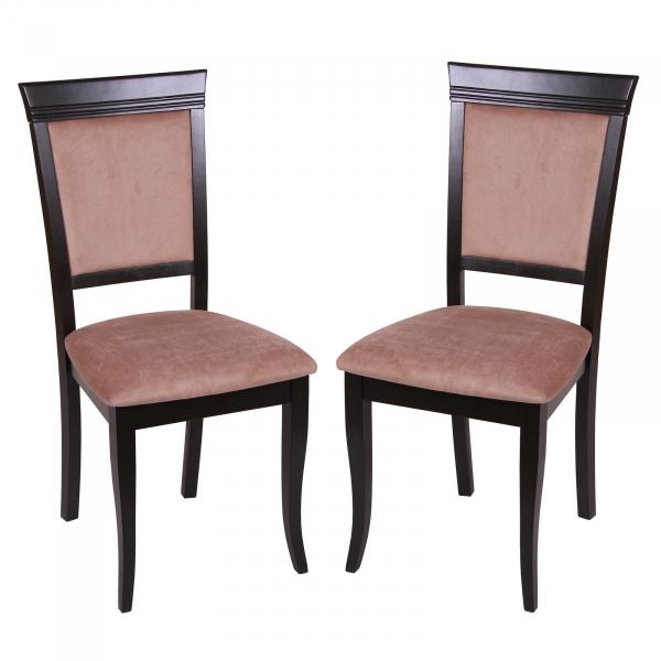 Set 2 scaune ROMA, Lemn, Wenge/Aya nougat 0