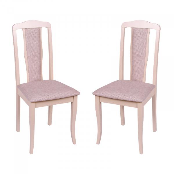Set 2 scaune  San Marino, Lemn, Beige/Regent plain 03 0