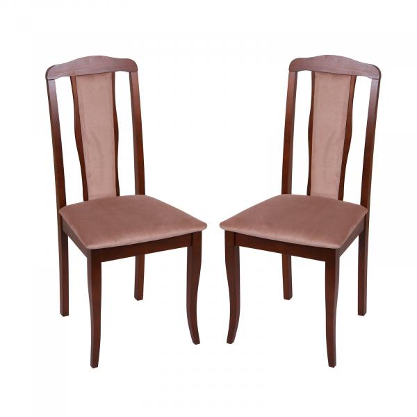 Set 2 scaune San Marino, Lemn, Nut Aya nougat conceptmobili 2021