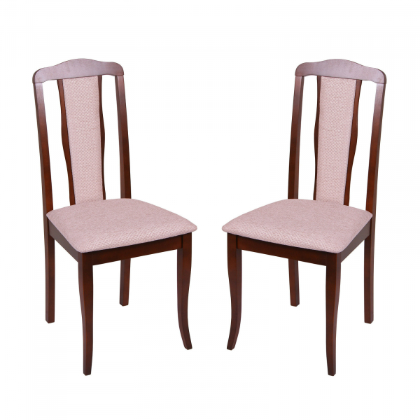 Set 2 scaune  San Marino, Lemn, Nut/Regent plain 03 0