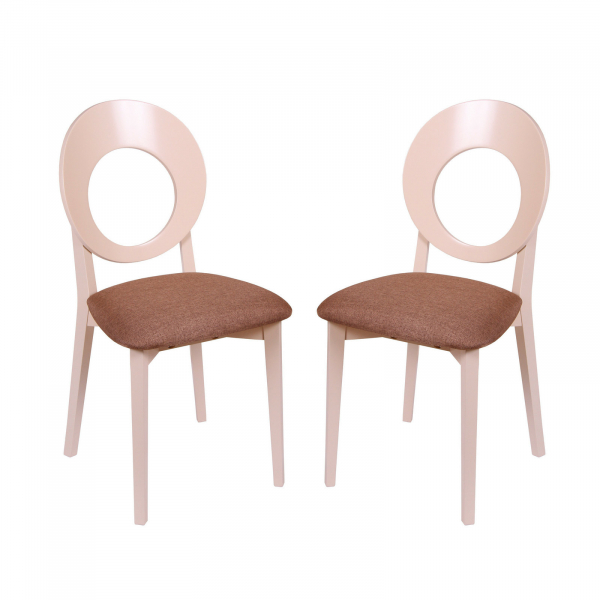 Set 2 scaune Star, Lemn, Beige/Veles 15 [0]