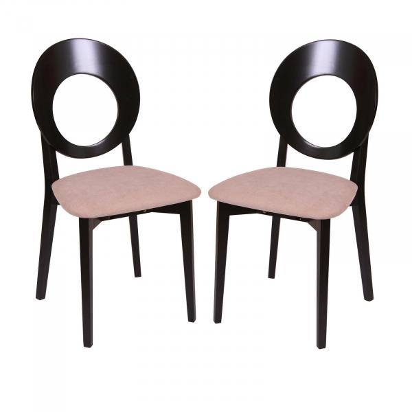 Set 2 scaune Star, Lemn, Wenge/Misty Beige [0]