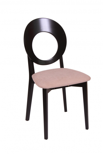 Set 2 scaune Star, Lemn, Wenge/Misty Beige [1]